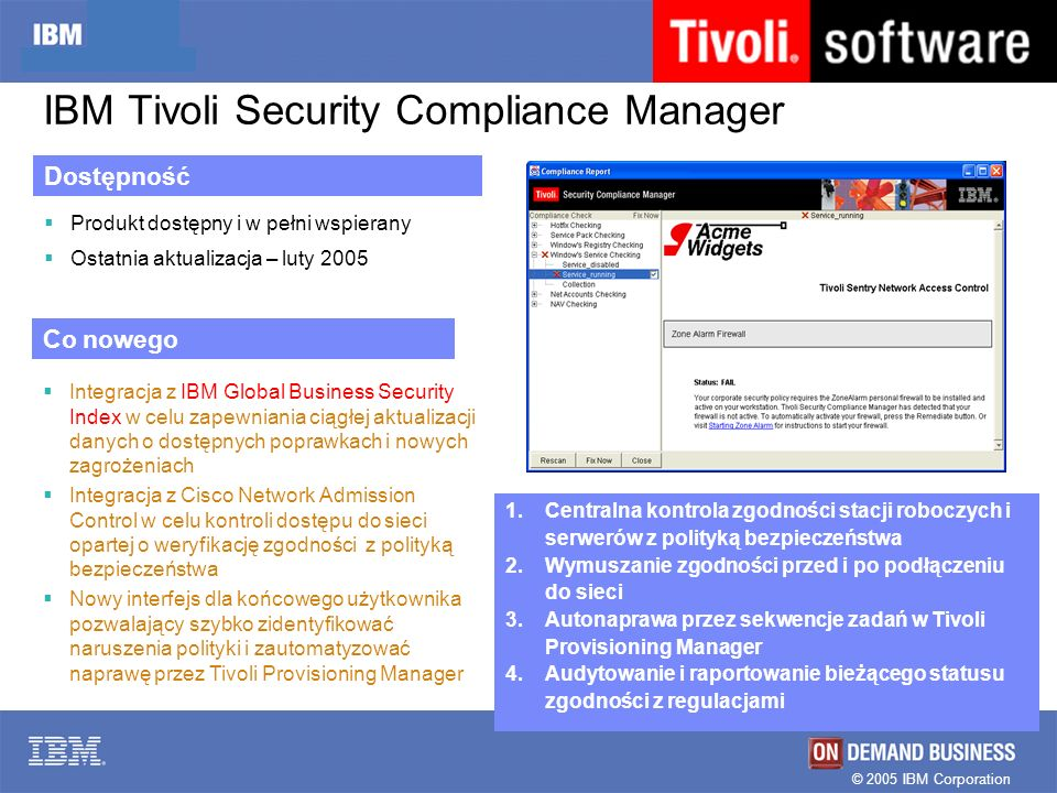 IBM Tivoli Security Compliance Manager