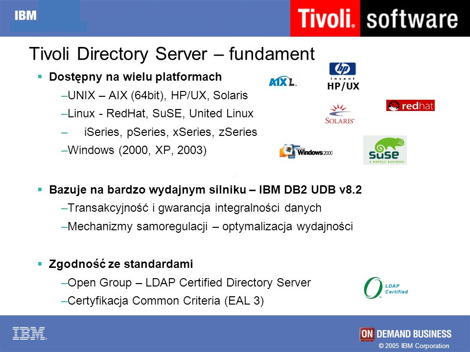 Tivoli Directory Server – fundament