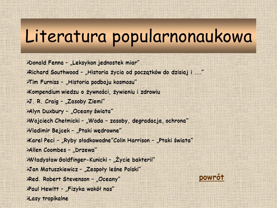 Literatura popularnonaukowa