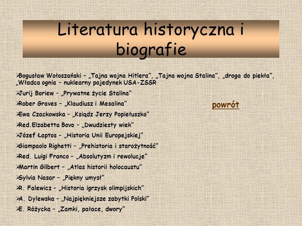 Literatura historyczna i biografie