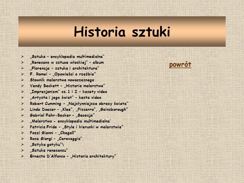 """Historia sztuki powrót """"Sztuka – encyklopedia multimedialna"""