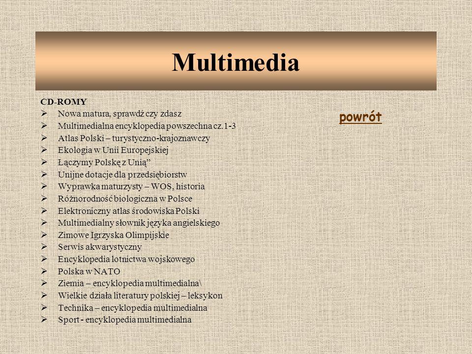 Multimedia powrót CD-ROMY Nowa matura, sprawdź czy zdasz