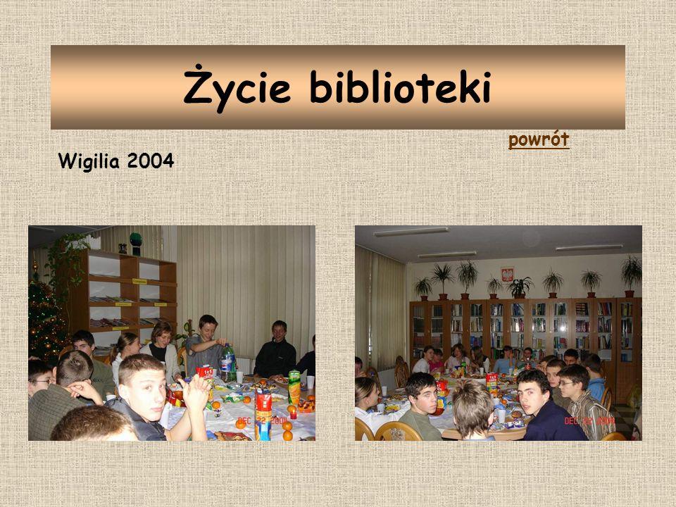 Życie biblioteki powrót Wigilia 2004