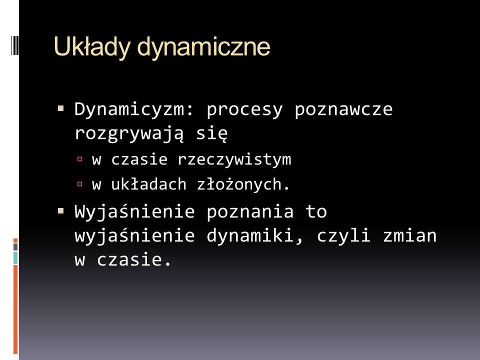 Układy dynamiczne Dynamicyzm: procesy poznawcze rozgrywają się