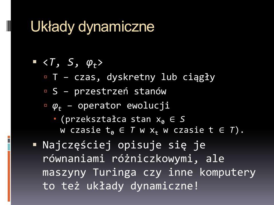 Układy dynamiczne <T, S, φt>