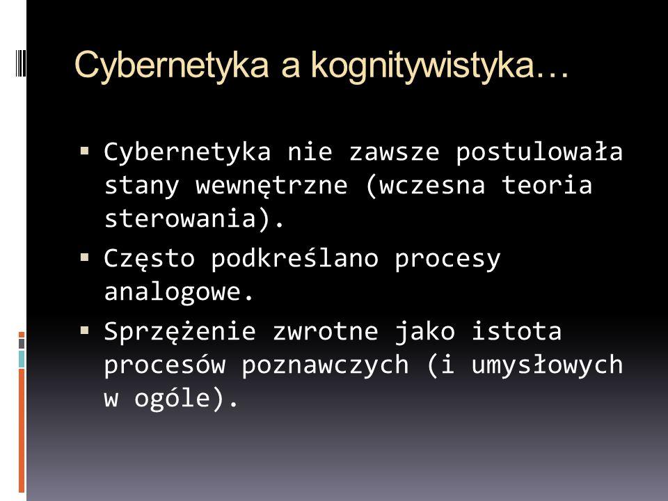 Cybernetyka a kognitywistyka…