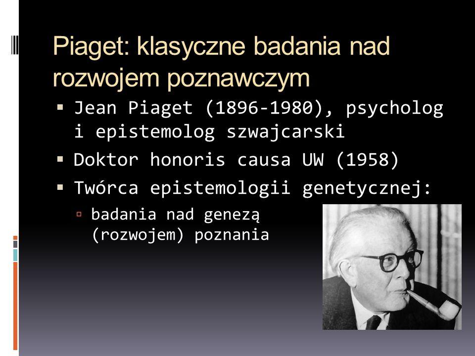 Piaget: klasyczne badania nad rozwojem poznawczym