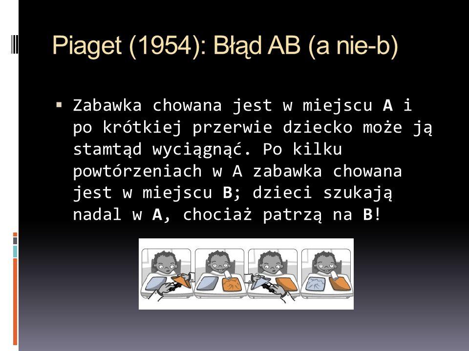 Piaget (1954): Błąd AB (a nie-b)