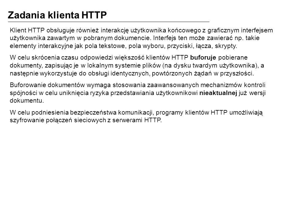 Zadania klienta HTTP