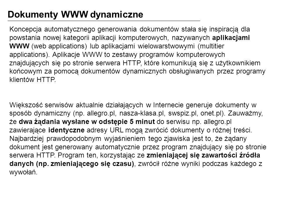 Dokumenty WWW dynamiczne