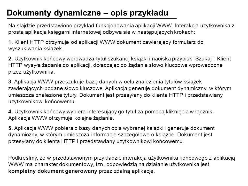 Dokumenty dynamiczne – opis przykładu