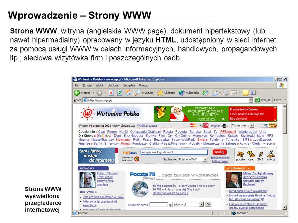 Wprowadzenie – Strony WWW