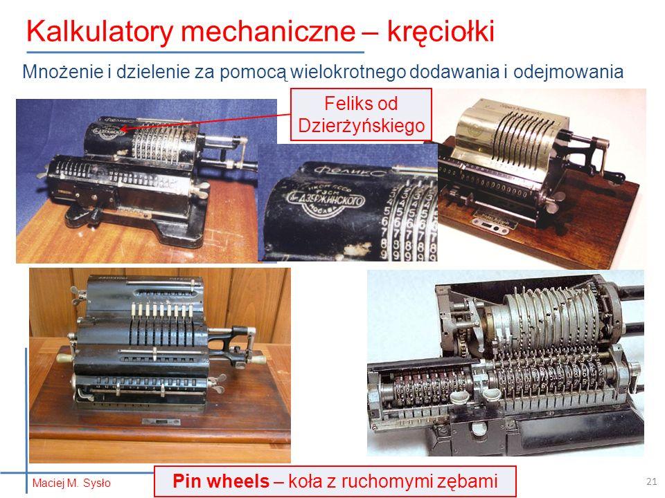 Kalkulatory mechaniczne – kręciołki