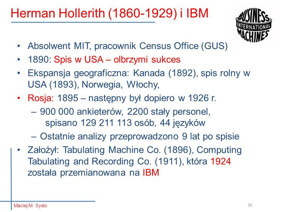 Herman Hollerith (1860-1929) i IBM
