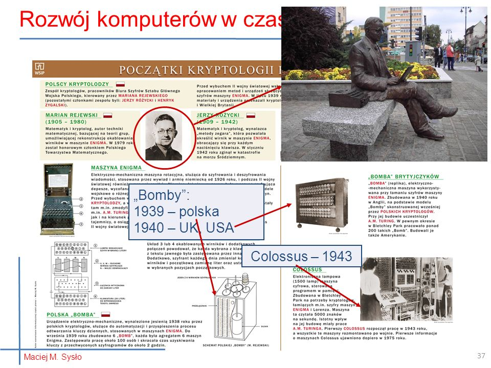 Rozwój komputerów w czasie wojny…
