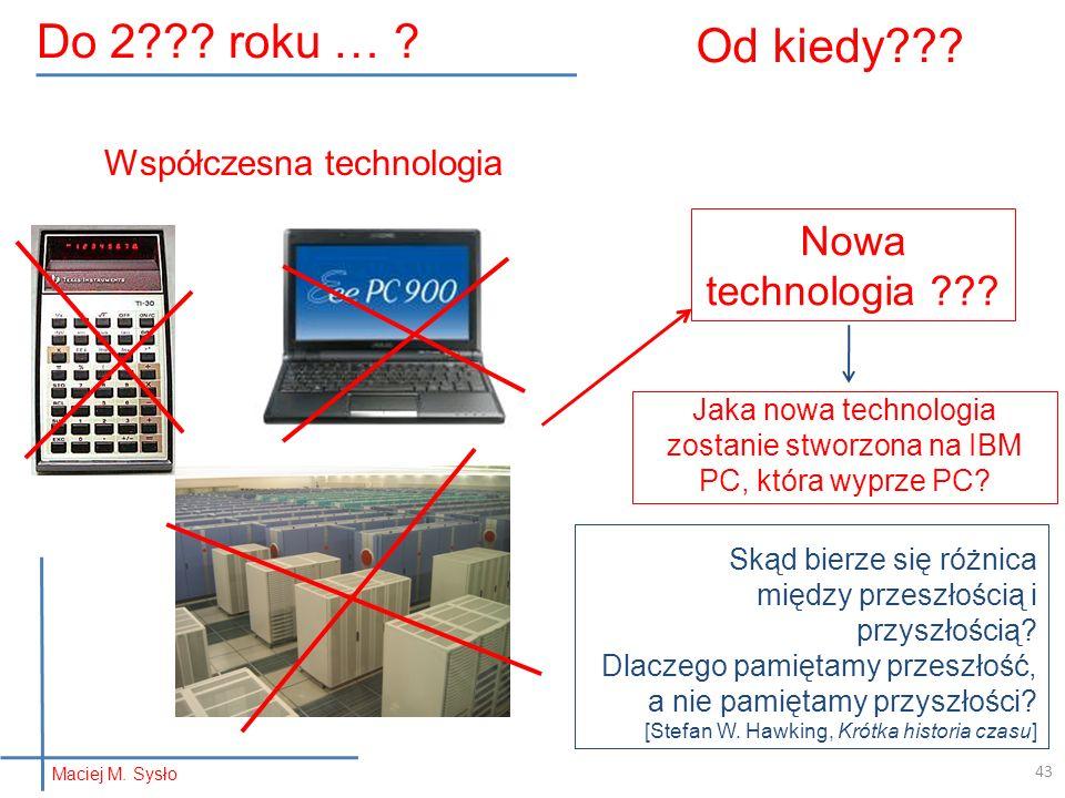 Od kiedy Do 2 roku … Nowa technologia