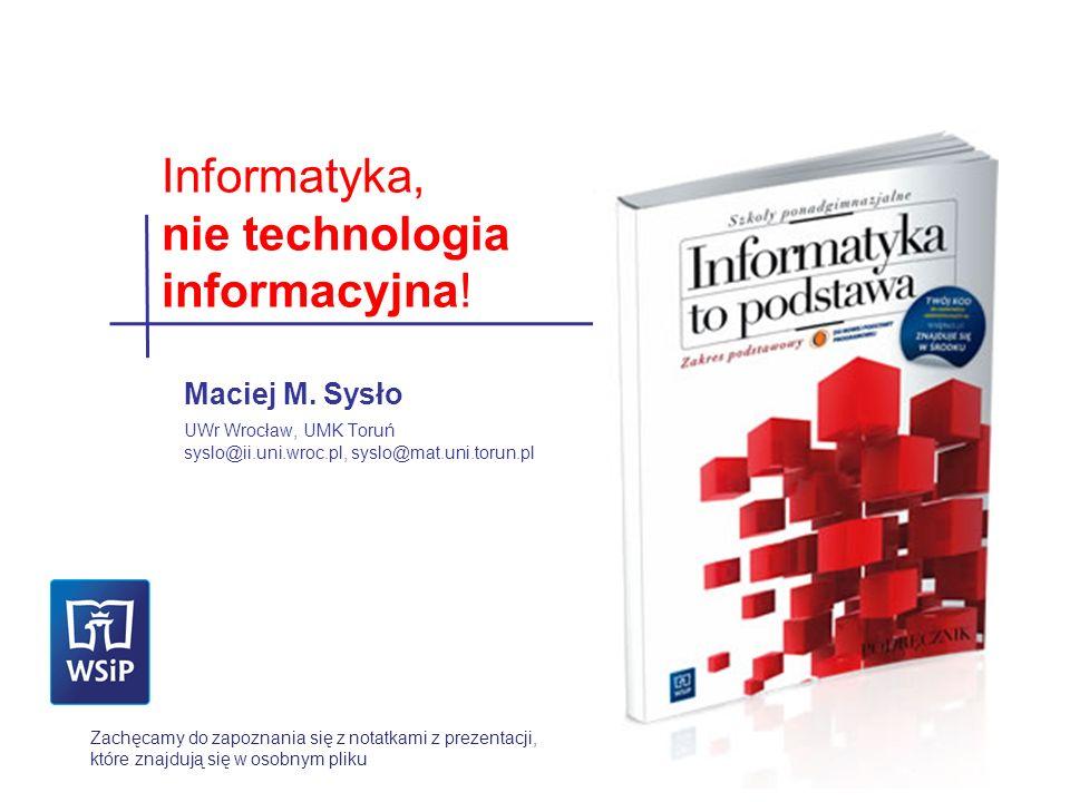 nie technologia informacyjna!