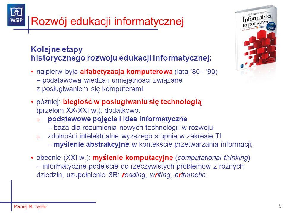 Rozwój edukacji informatycznej