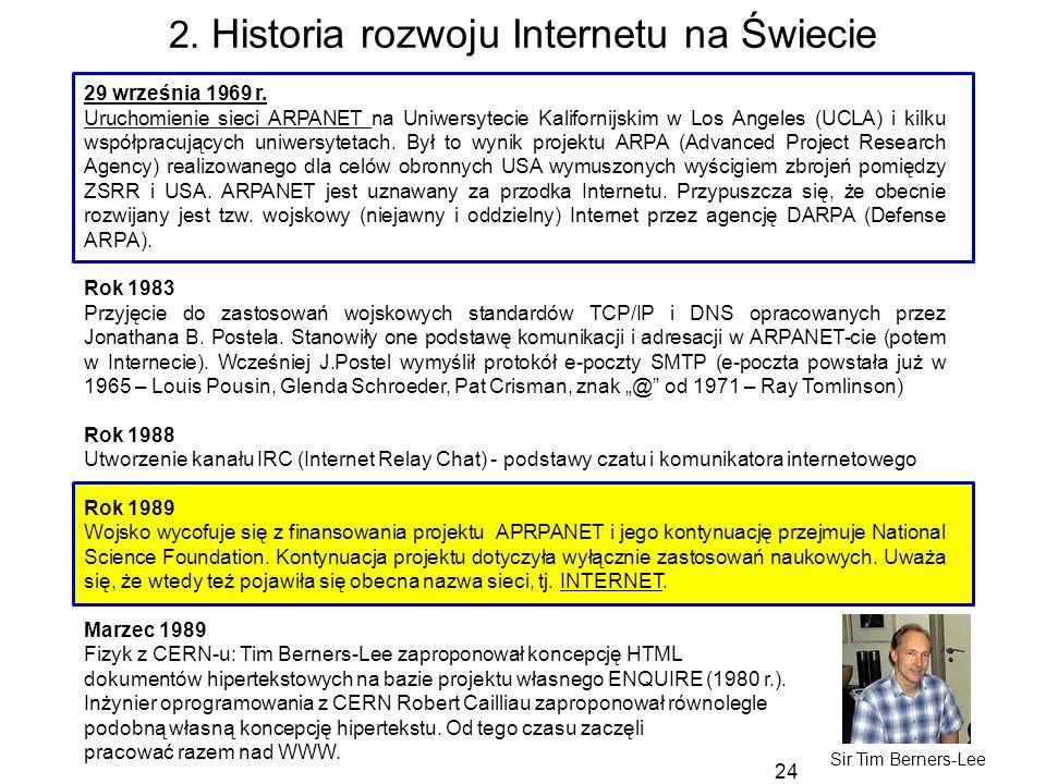 2. Historia rozwoju Internetu na Świecie