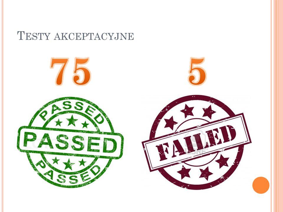 Testy akceptacyjne 75 5