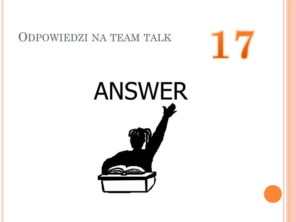 Odpowiedzi na team talk