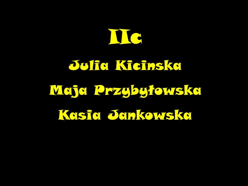 IIc Julia Kicinska Maja Przybyłowska Kasia Jankowska