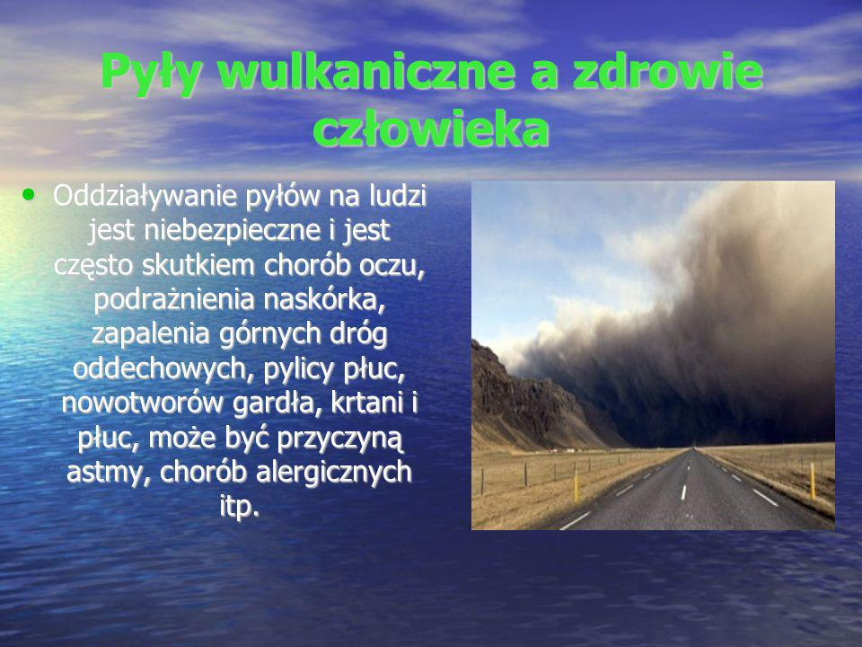 Pyły wulkaniczne a zdrowie człowieka