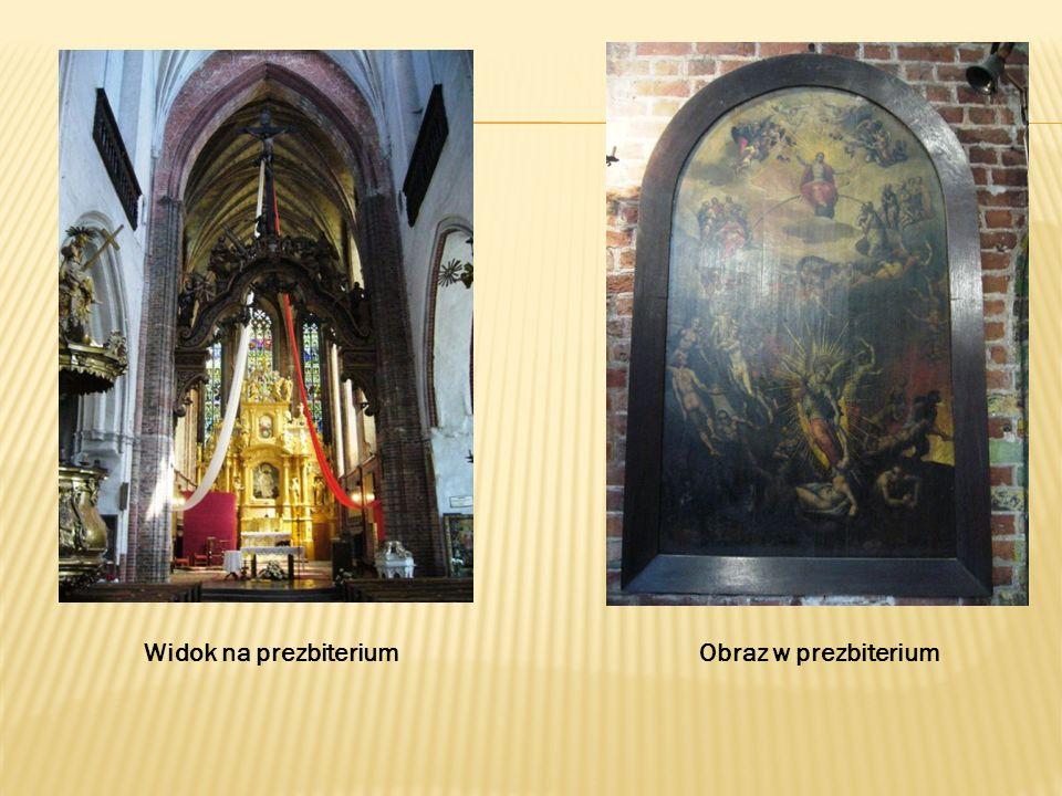 Widok na prezbiterium Obraz w prezbiterium