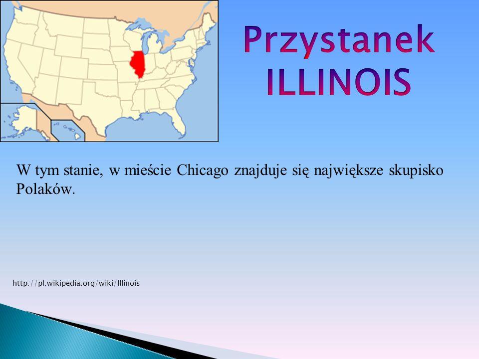PrzystanekILLINOIS.W tym stanie, w mieście Chicago znajduje się największe skupisko Polaków.
