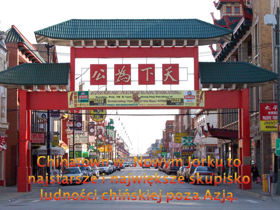 Chinatown w Nowym Jorku to