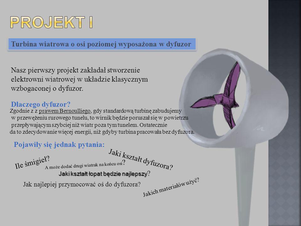 Projekt I Turbina wiatrowa o osi poziomej wyposażona w dyfuzor