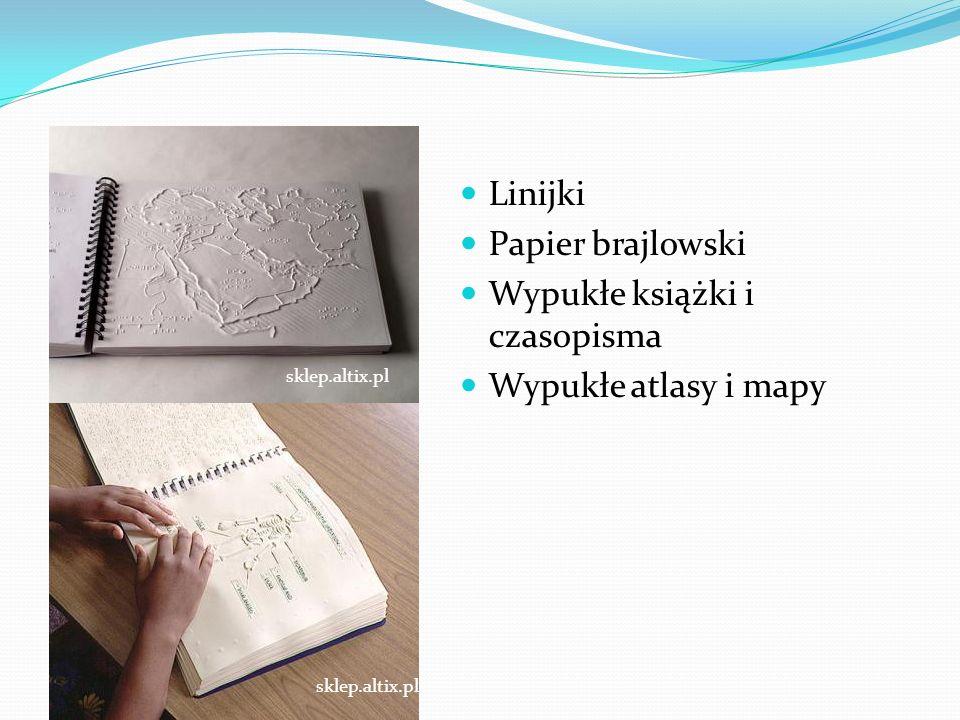 Przedmioty Linijki Papier brajlowski Wypukłe książki i czasopisma