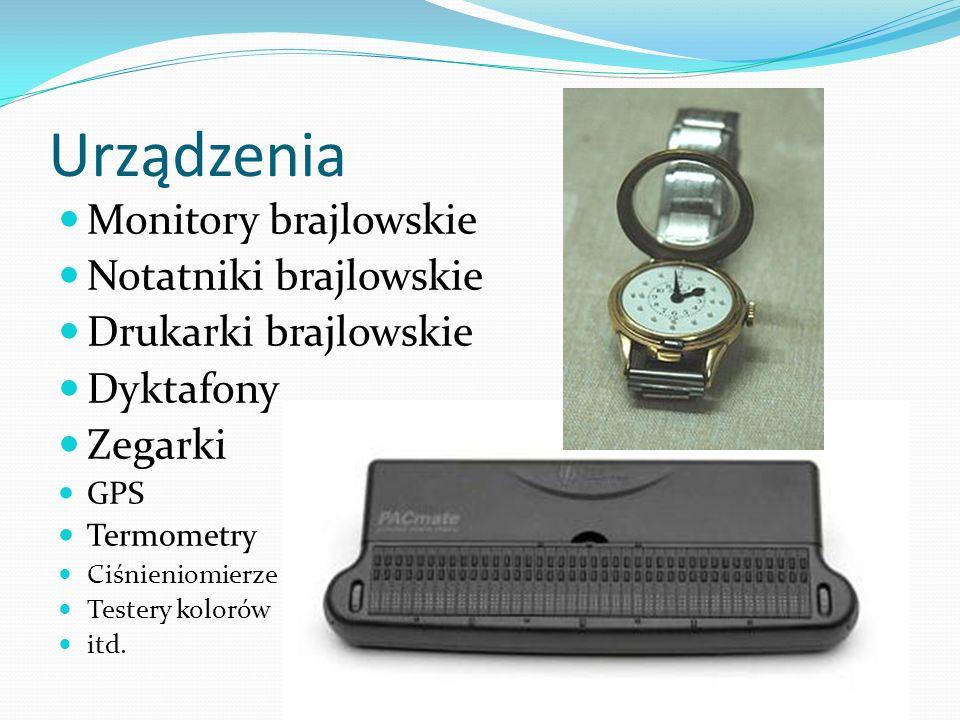 Urządzenia Monitory brajlowskie Notatniki brajlowskie