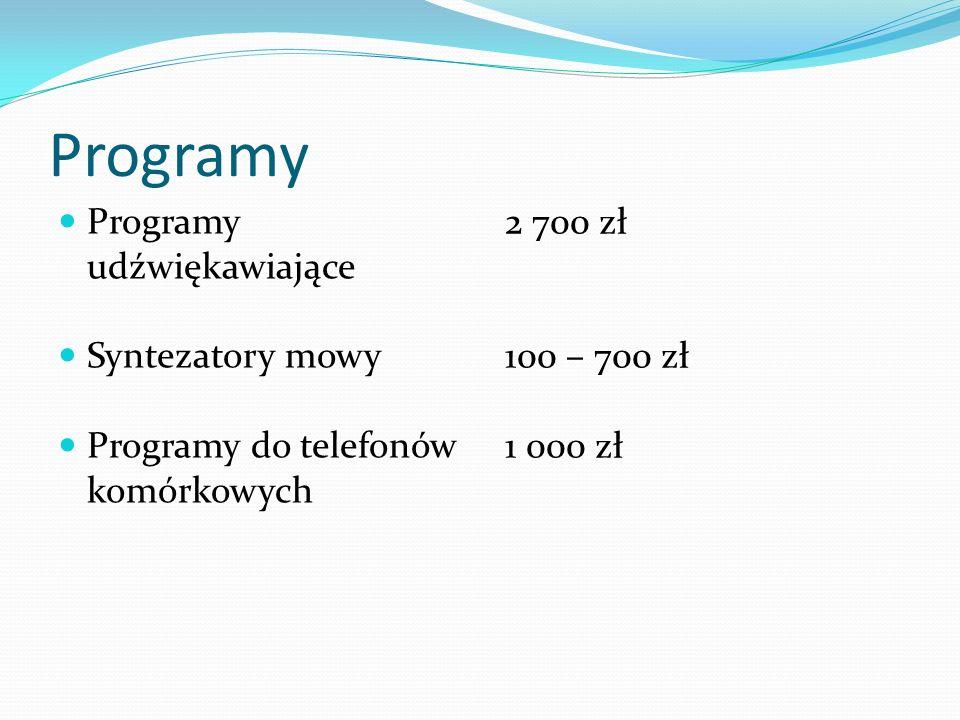 Programy Programy udźwiękawiające Syntezatory mowy