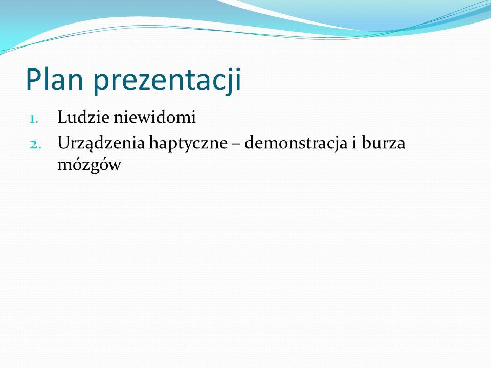 Plan prezentacji Ludzie niewidomi