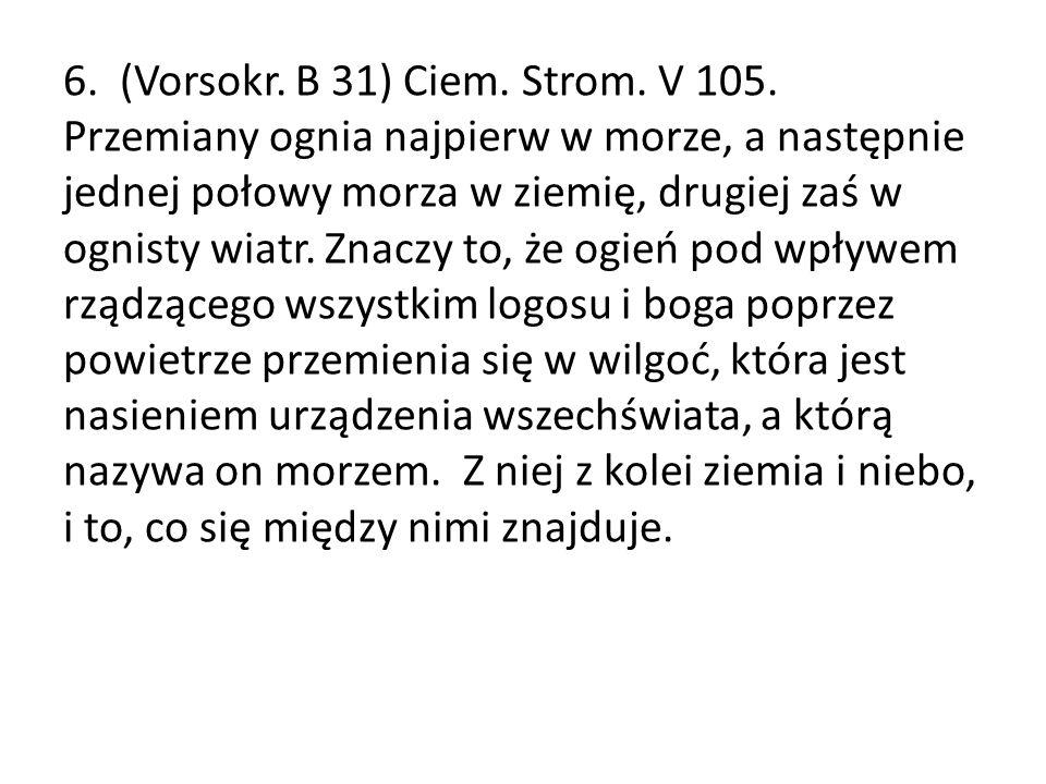 6. (Vorsokr. B 31) Ciem. Strom. V 105