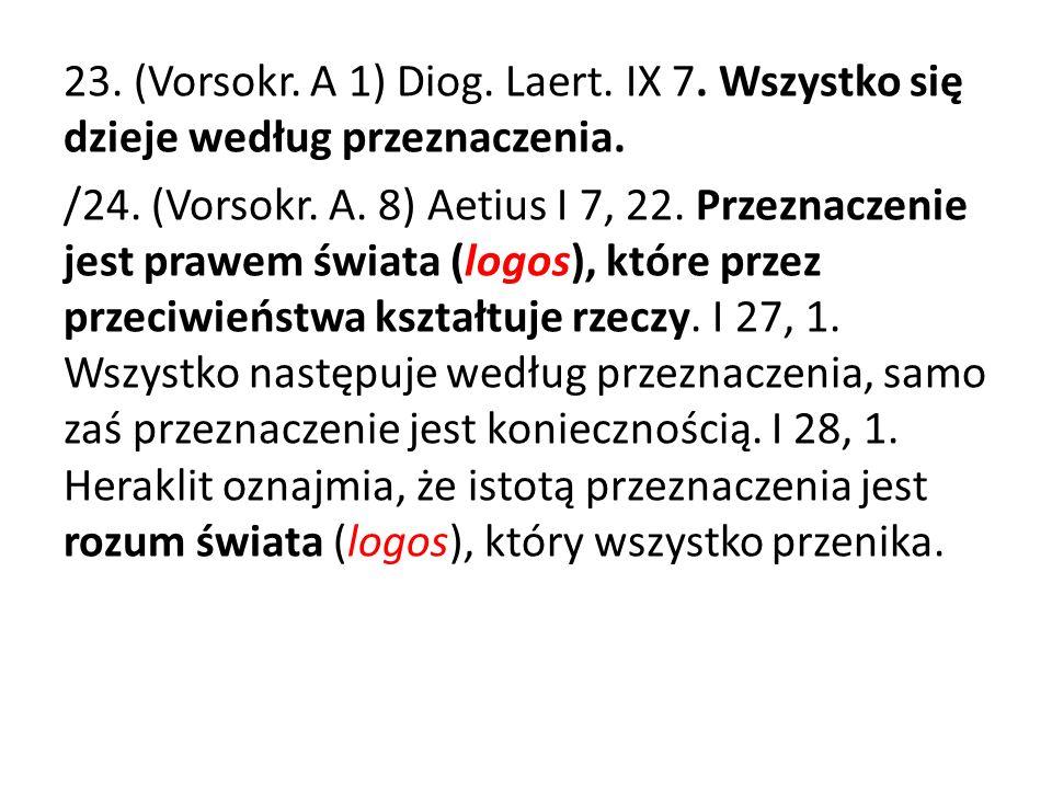 23. (Vorsokr. A 1) Diog. Laert. IX 7