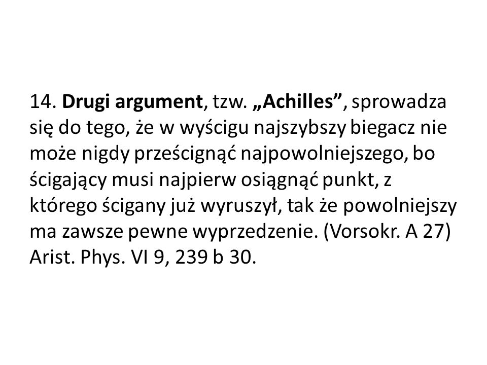 14. Drugi argument, tzw.