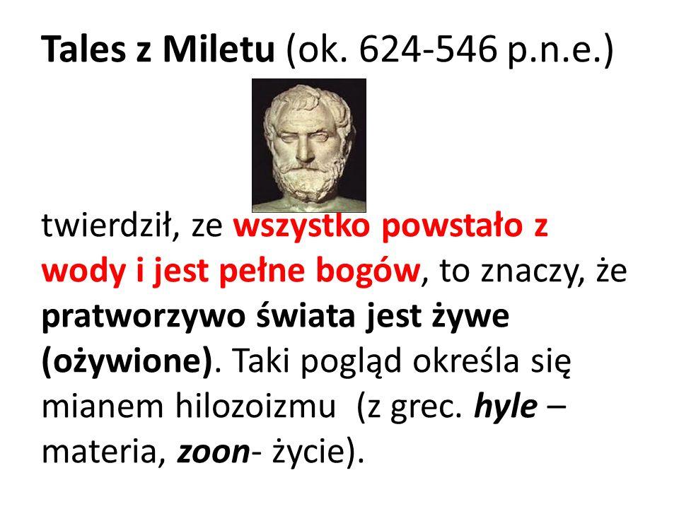 Tales z Miletu (ok. 624-546 p.n.e.)