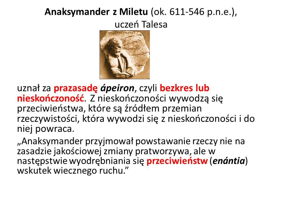 Anaksymander z Miletu (ok. 611-546 p.n.e.),