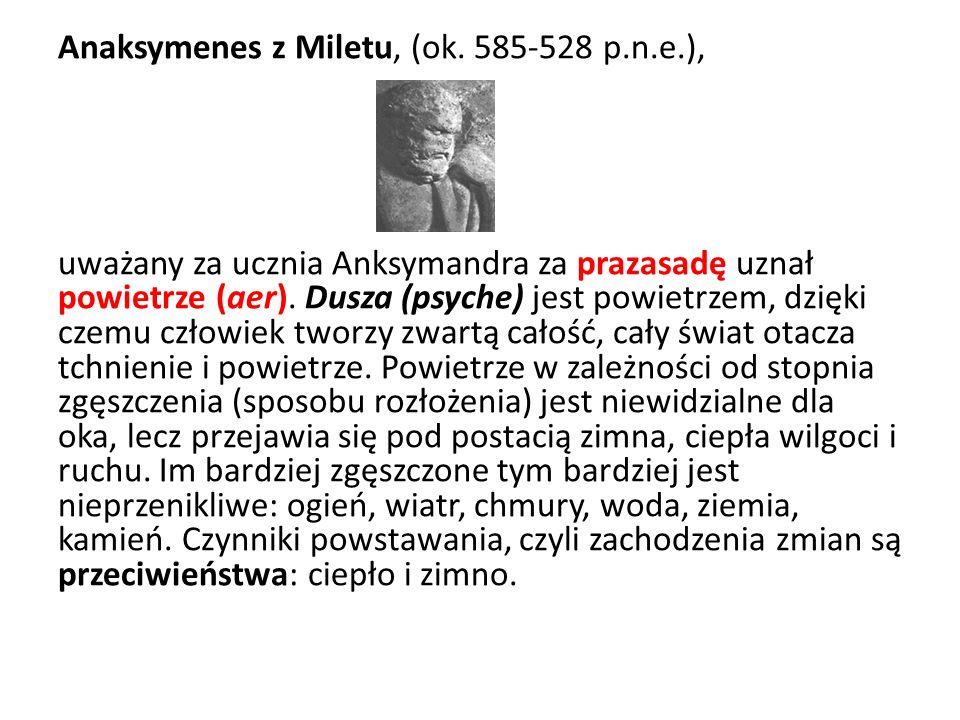 Anaksymenes z Miletu, (ok. 585-528 p. n. e