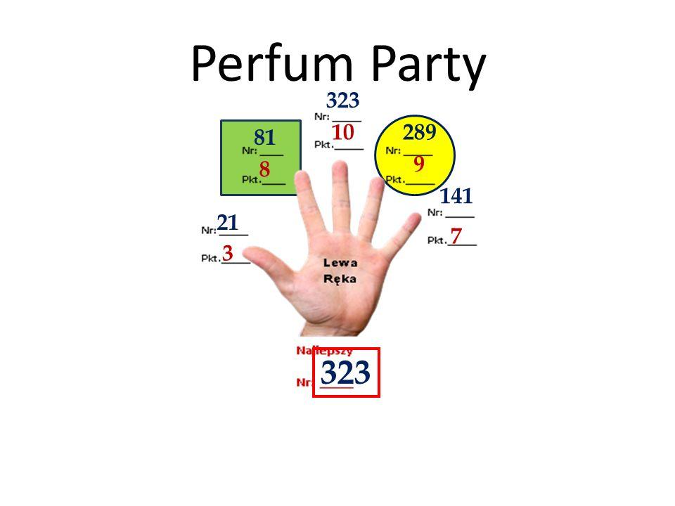 Perfum Party 323 10 289 81 9 8 141 21 7 3 323