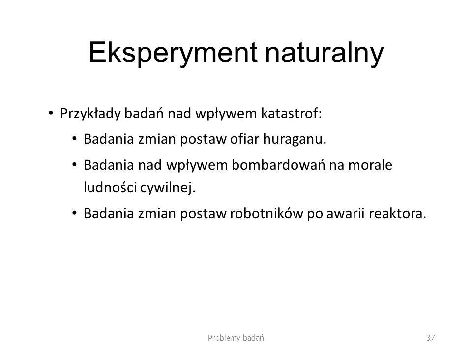 Eksperyment naturalny