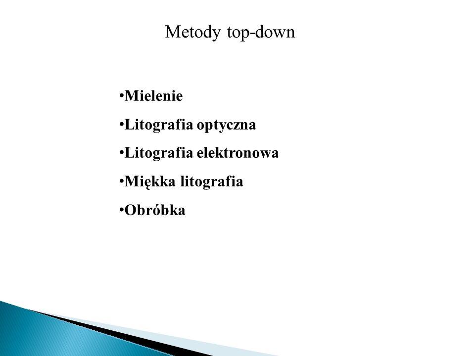 Metody top-down Mielenie Litografia optyczna Litografia elektronowa