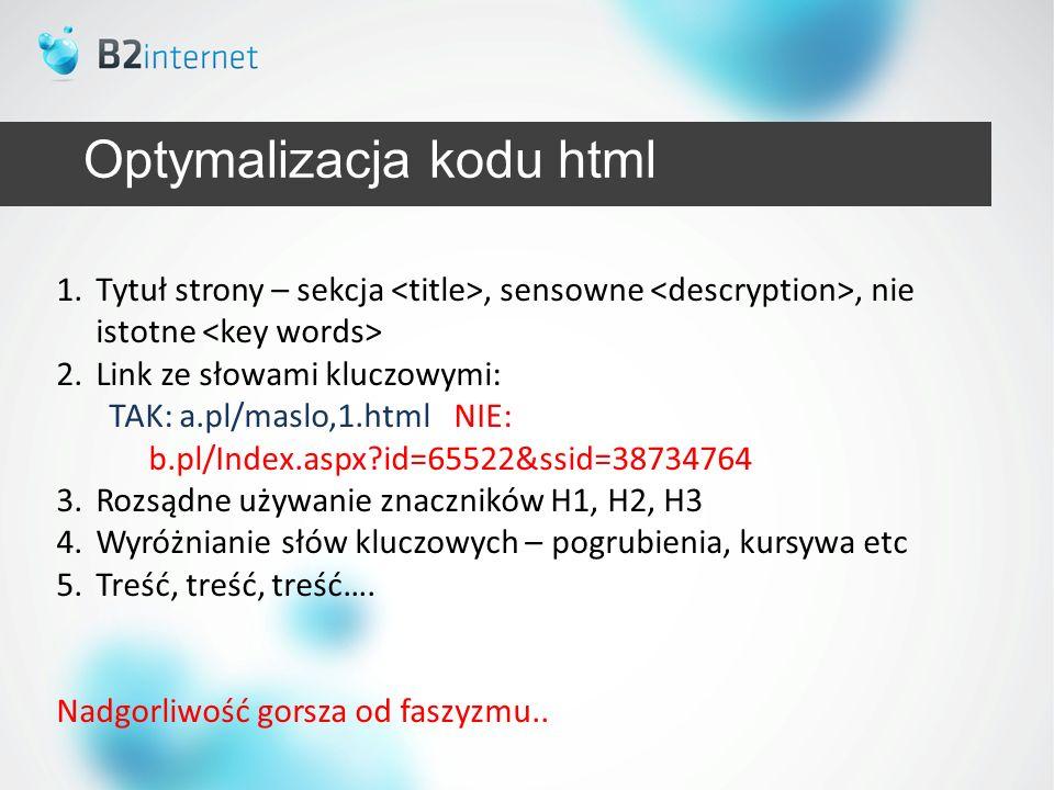 Optymalizacja kodu html