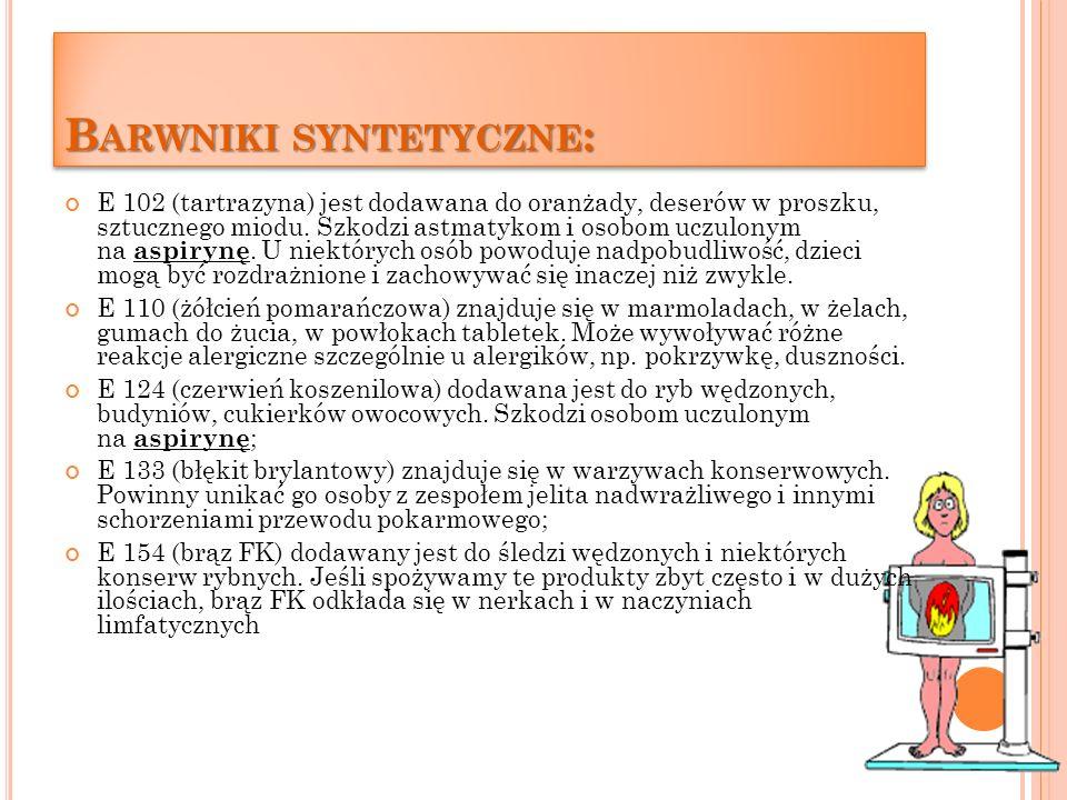 Barwniki syntetyczne: