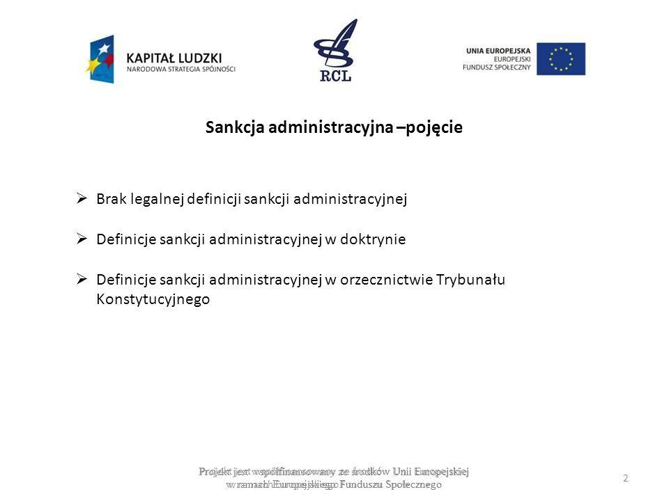 Sankcja administracyjna –pojęcie