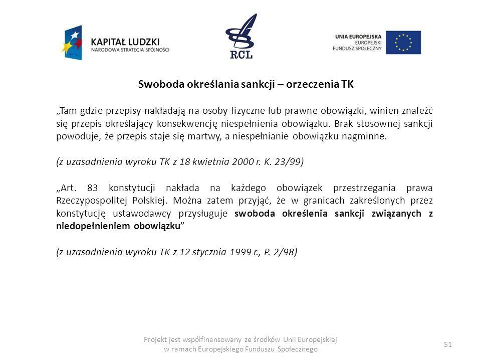 Swoboda określania sankcji – orzeczenia TK
