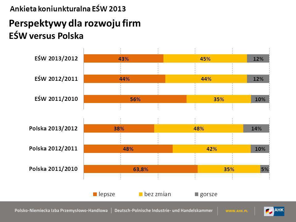 Perspektywy dla rozwoju firm EŚW versus Polska