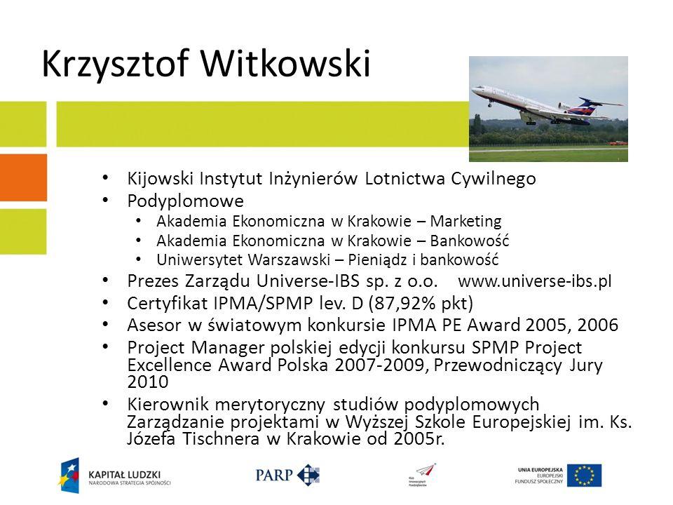 Krzysztof Witkowski Kijowski Instytut Inżynierów Lotnictwa Cywilnego
